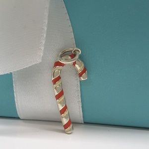 5501495fc071 Jewelry - Tiffany   Co. Red Enamel Candy Cane Charm Pendant